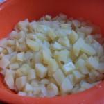 Zwiebeln und Kartoffeln müssen etwas abkühlen