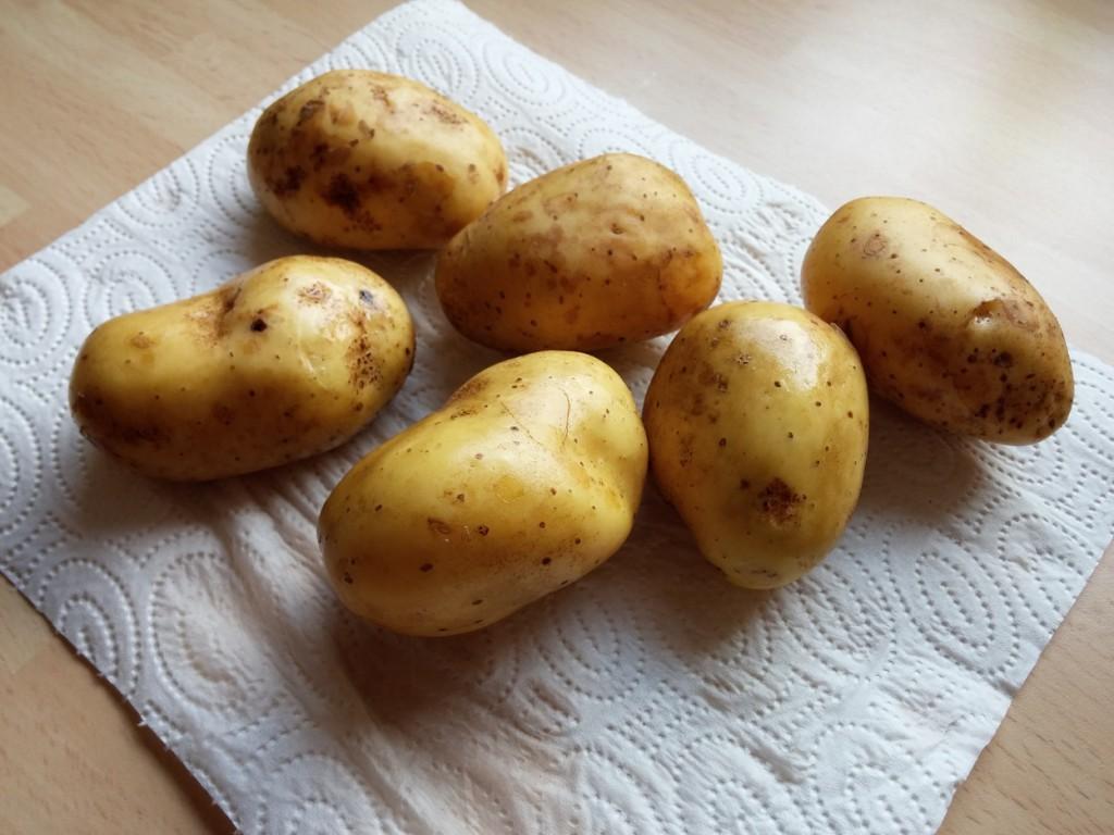 Kartoffeln aus privatem Anbau - herrlich!