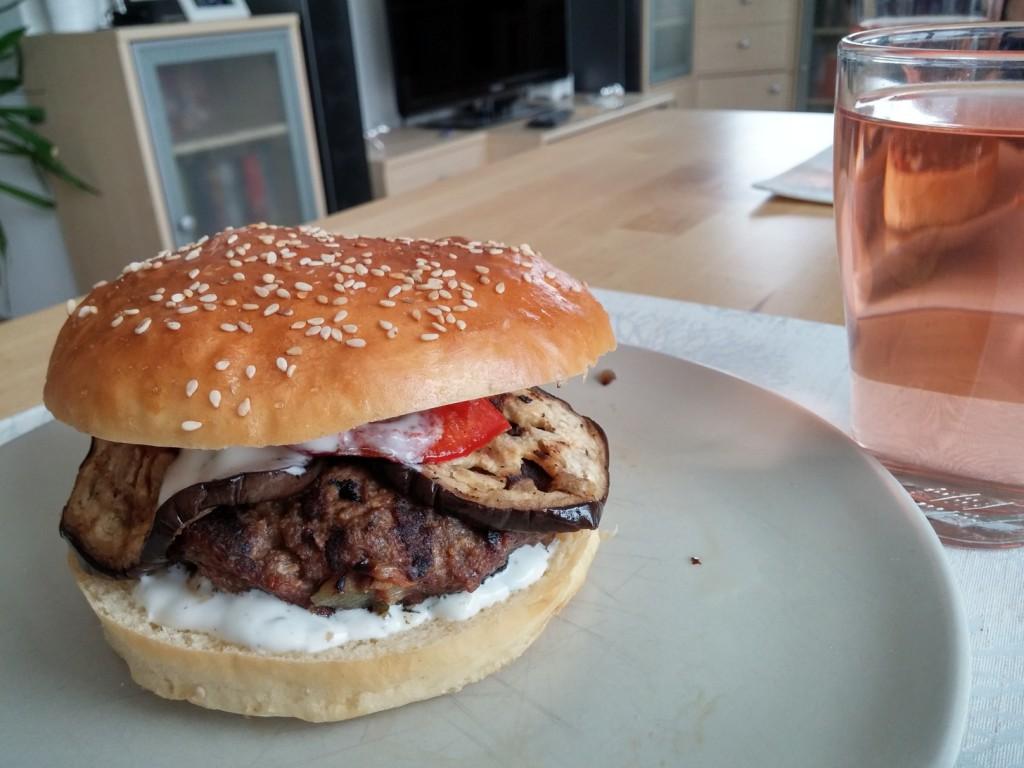 Kebab-Burger! Guten Appetit!