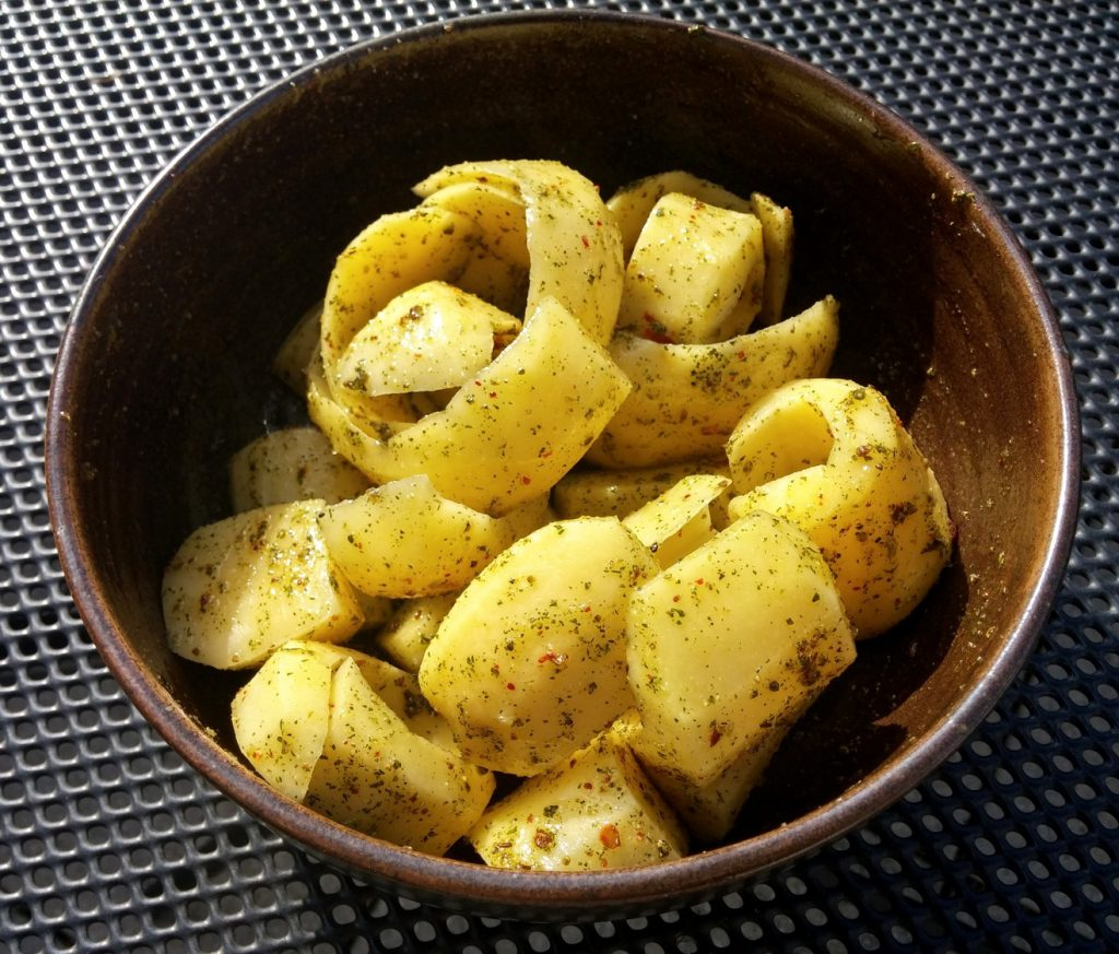 Die Kartoffel-Locken sind bereit zum Grillen!