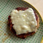 Apfel-Burger-Patty mit Cheese