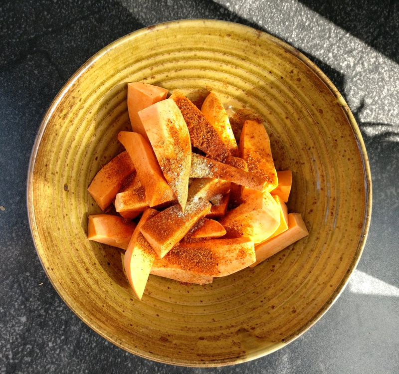 Süßkartoffeln mit Gewürzen