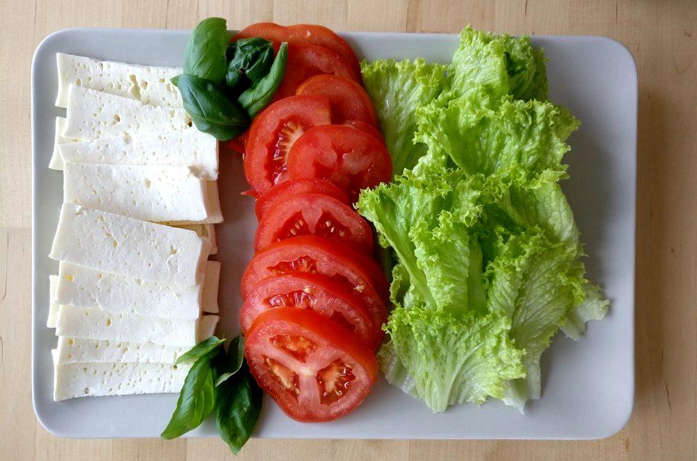 Salatbeilage für mediterane Burger