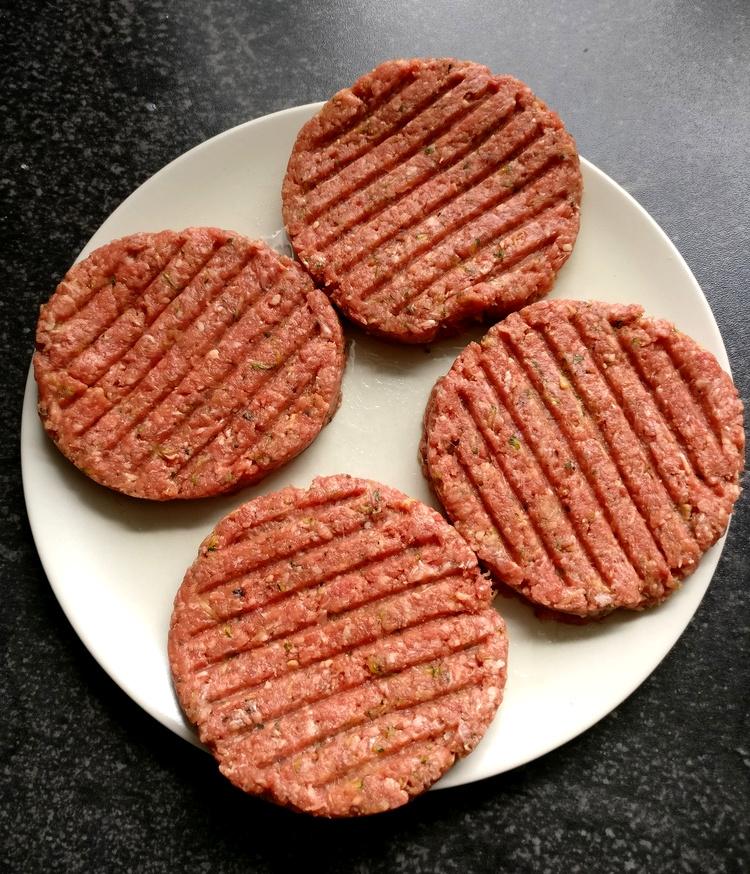 Gepresste Hamburger Patties