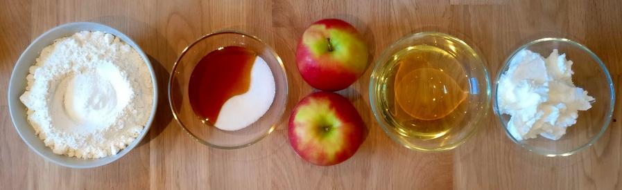 Zutaten für Apfelbrötchen auf Quark-Öl-Basis