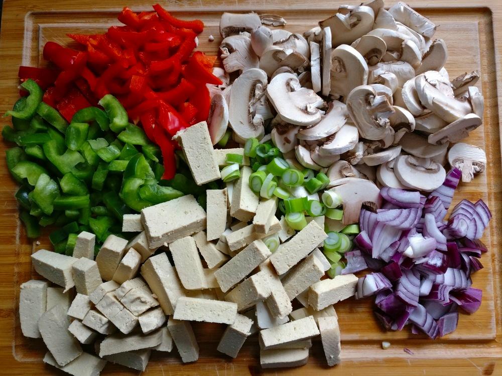 Zutaten für die Tofu-Pfanne