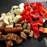 Zutaten für die vegetarischen Seitan-Grillspieße