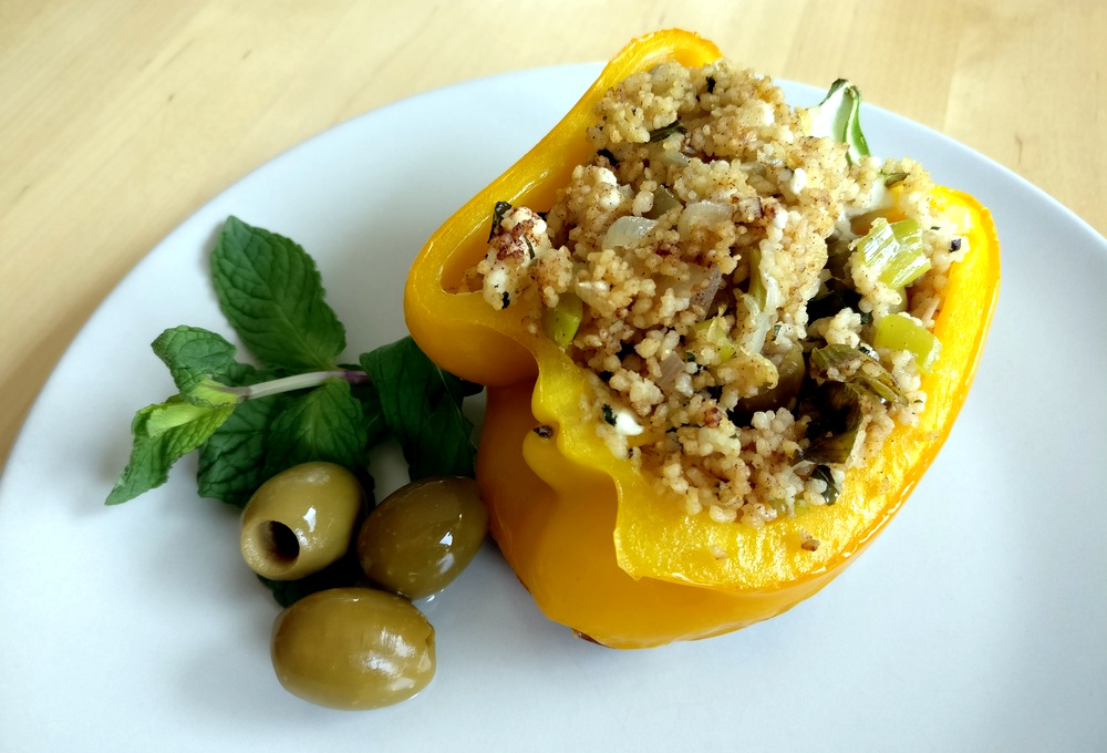 Die gefüllten Paprika marokkanischer Art schmecken fantastisch