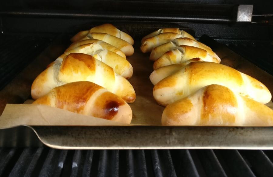 Die Frühstücks-Croissants sind gleich fertig