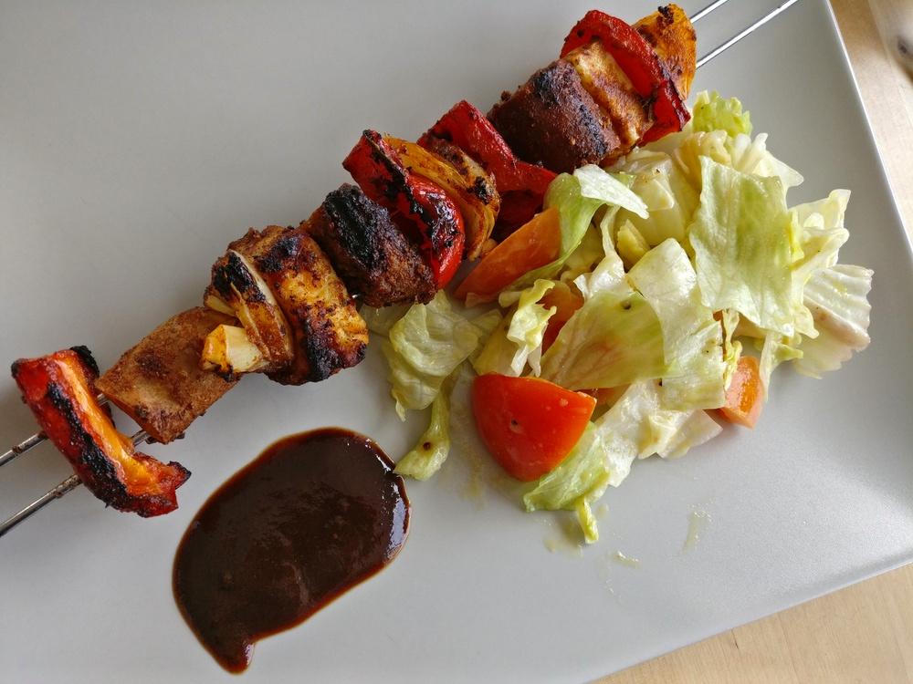 Seitan-Grillspieße - vegetarisch