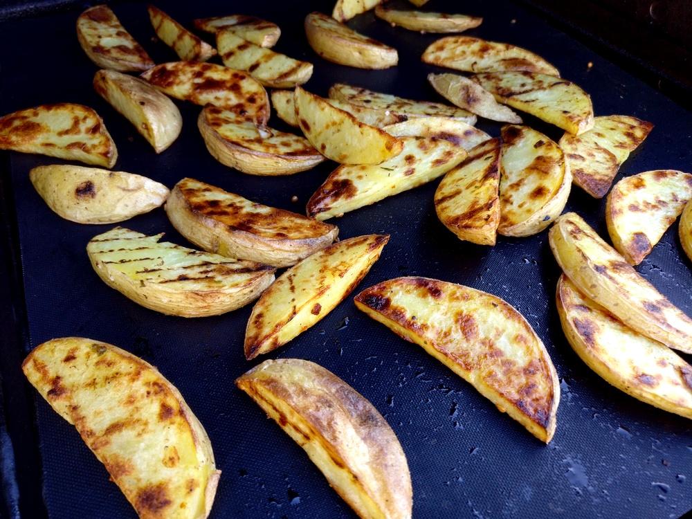 Die Kartoffelspalten sehen super lecker aus