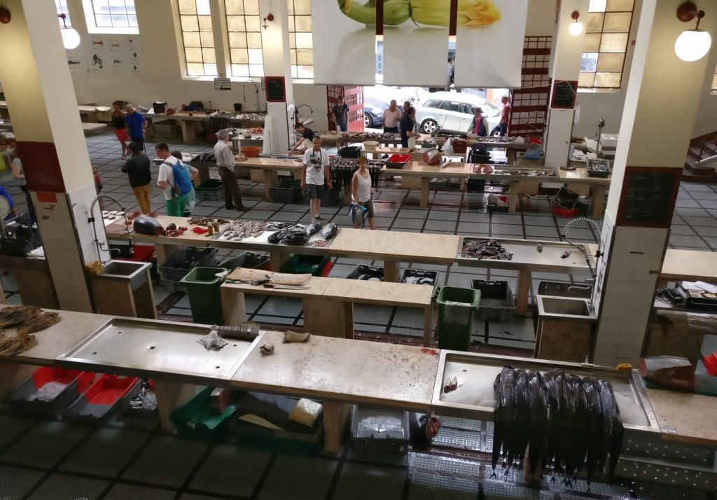 Fischhalle im Mercado dos Lavradores in Funchal