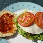 Sowie zuletzt der Ziegenkäse und die Tomate