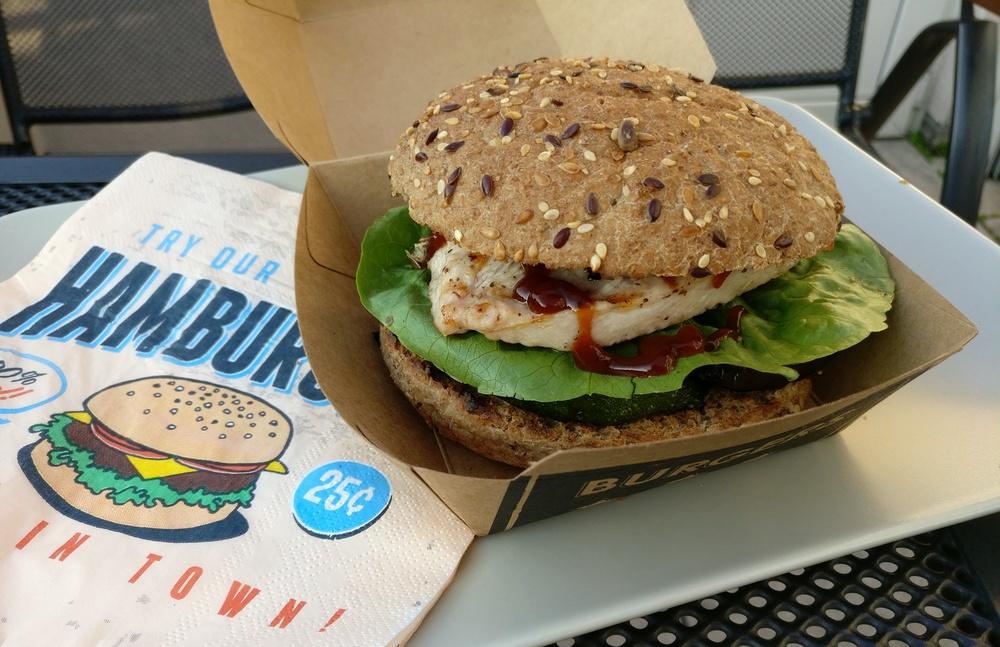 Mmmmh, lecker Burger mit Putenfleisch und Grillgemüse