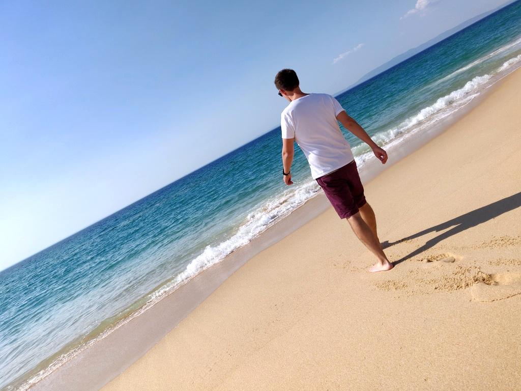 Me am Strand