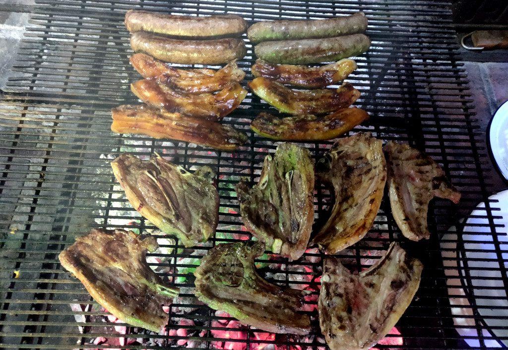 Das Fleisch wurde zum Schluss gemobbt mit BBQ-Sauce