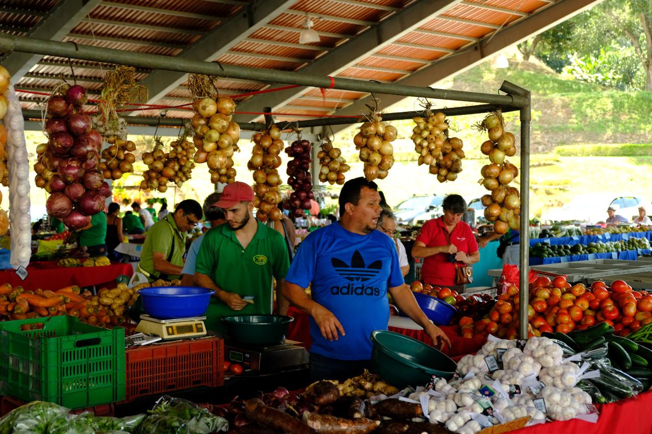 Der Markt ist nicht touristisch und daher umso spannender für mich